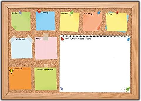 Schreibtischunterlage aus Papier zum Abreißen mit To-do-Liste Schreibunterlage Notiz-Feld Wochenplan Denkzettel Abreißblock Wochenplaner für Kinder & Erwachsene Motiv: Pinnwand