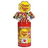 Chupa Chups The Best Of Sucettes aux Goûts assortis: Fraise, Pomme, Cola, Cerise, Lait Fraise, Cacao-Vanille et Kiwi-Fraise-Orange, 100 Pièces, 1200g