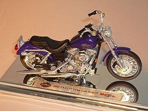 harley Davidson 2000 Fxdl Dyna Low Rider Violett 1/18 Maisto Modellmotorrad Modell Motorrad