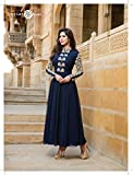 Price Bet Navy Blue Georgette Gown Gown