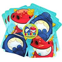 Reusable Snack Bags by Nom Nom Kids - pack of 10 - for baby led weaning, toddlers and school kids. Fill with vegetable sticks, finger food, fruit slices, raisins and portion control treats. BPA Free, Dishwasher safe. freezer safe & smell proof (10 pack)