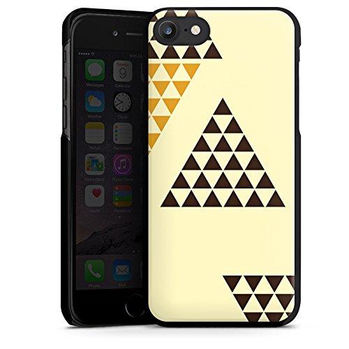 Apple iPhone X Silikon Hülle Case Schutzhülle Dreieck Pyramide Triforce Hard Case schwarz