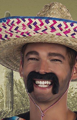 Halloweenia - Karnevalszubehör Schnurrbart Mexican , Schwarz