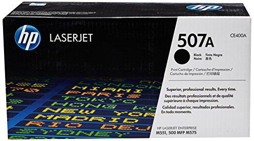 HP 507A (CE400A) Schwarz Original Toner für HP Laserjet Enterprise M551, Color M575, Pro 570