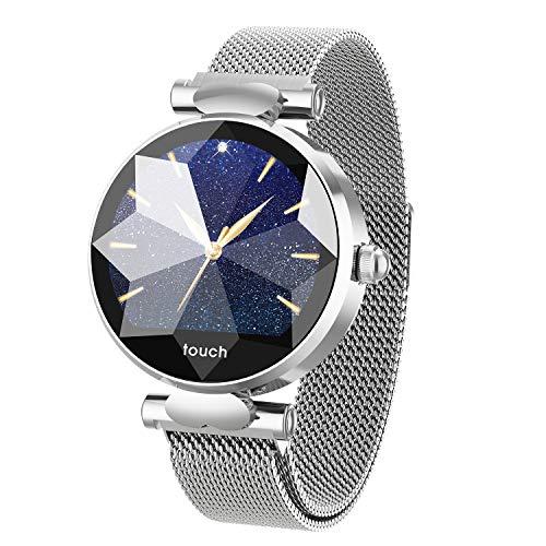 e6926c2885a3 Health Smart Watch HSW B80 Pantalla táctil Reloj Inteligente Rastreador de  Ejercicios para Mujer niña - Pulsera Deportiva Impermeable con Ciclo ...
