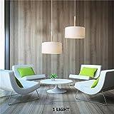 FJTLX Decken-Kronleuchter, chinesische Holz Vintage Spiral Wohnzimmer Studie Schlafzimmer Tuch Lampenschirme Kreative Persönlichkeit Kronleuchter Effizienz: a +++,400 mm