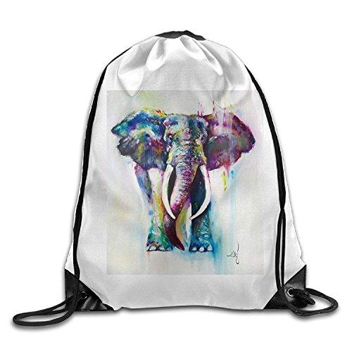 PGTry Elephant Paintings Art3D - Mochila con cordón para el Hombro (tamaño...