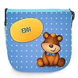 Umhängetasche für Kinder mit Namen Eddi und schönem Motiv mit Bär   Schultertasche für Jungen