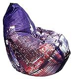 #8: JB BAGS Newyork City Printed XXXL Bean Bag Cover (JB0013NCP)
