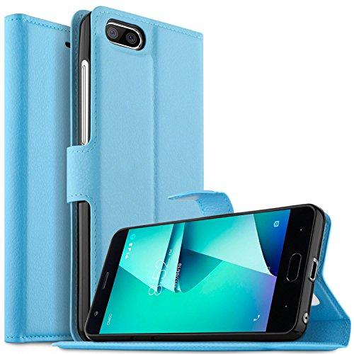 DOOGEE X20L Hülle Case, KuGi DOOGEE X20L Wallet Case, Brieftasche Case Hülle PU Kunstleder Flip Case mit Standfunktion Kartenfächer und Bargeld für DOOGEE X20L smartphone.Blau