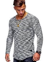 MT Styles Herren Pullover Oversize Feinstrick Sweatshirt MT-7312