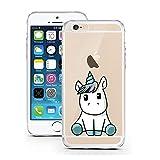 licaso Handyhülle für iPhone 7 und 8 aus TPU mit Baby Einhorn Print Design Schutz Hülle Protector Soft Extra (iPhone 7/8, Unicorn Baby)