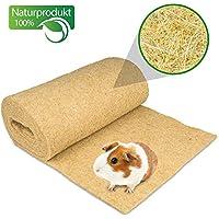 Nagerteppich aus 100% Hanf auf Rolle mit 5m Länge, 50cm Breite, 5mm dick (8,78 Euro / m2) Hanfteppich für alle Arten Kleintiere, zum Einlegen & Bespielen für Nagetiere
