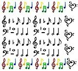 Notes de musique pour nail art