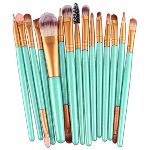 Clode® Professionnel 15 pcs/set Pinceaux - Brosse de Maquillage / Brush Cosmétique Beauté & Make-up kit de maquillage Noir