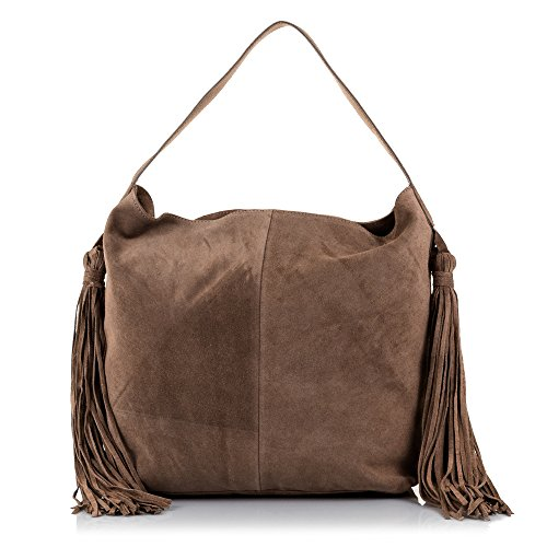 Firenze ARTEGIANI.Bolso Shopping Bag de Mujer Piel auténtica.Bolso Hombro Cuero Genuino Piel...