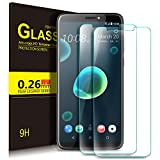 HTC Desire 12 Plus Schutzfolie, KuGi 9H Panzerglas Hartglas Glas Display Schutzfolie [Blasenfrei] [HD Ultra] [Anti-Kratzer] Displayschutzfolie Displayschutz Screen Protector Für HTC Desire 12 Plus smartphone. Klar [2 PACK]