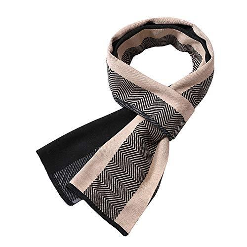 Vi.yo. Écharpe Hiver Long Doux Polyester Chaud Épaissir Foulards Hommes Affaires Mode Châle Écharpes Cadeau De Noël