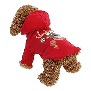 La Cabina Robe pour Chiens Noël Manteau Teddy Pull en Coton pour Petit Chien