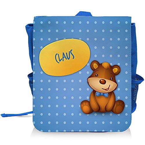 Kinder-Rucksack mit Namen Claus und schönem Bären-Motiv für Jungen | Kindergarten-Rucksack (Claus Bär)