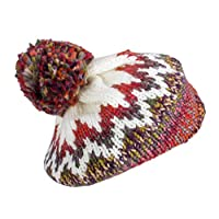 Fenside Country Clothing BBL005 Ladies Knitted Beret with Large Pom-Pom (Rust)