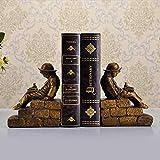 YJLGRYF Domestico Libreria Libro di studio americano File Home Decorazione artigianale Ragazzo di lettura Libro di ornamenti decorativi 14x9x18cm Decorazioni per la casa