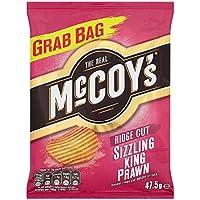 Sabor a patata canto de corte chisporrotear Langostino del Real McCoy patatas fritas de 47,5 g (paquete de 30 x 47,5 g)