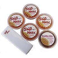 Dulce Wax Luz pulsada Set para principiantes. 4sugaring Azúcar para eliminación de pelo Vellón para todas las estaciones + dulce Wax Brazilian Wax y 100sin rayas.