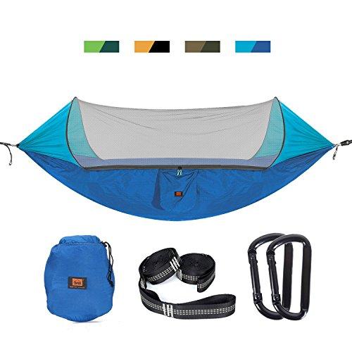 Amaca da campeggio con zanzariera per 2persone, per attività all'aria aperta, trekking, escursioni, viaggi, blue