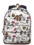 Karactermania Disney Klassische Minnie Fashion Rucksack beiläufige Art, 43 cm, 27 Liter, Weiss