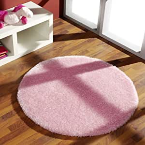 kiyou shaggy ks 2 tapis rond rose 100 cm. Black Bedroom Furniture Sets. Home Design Ideas