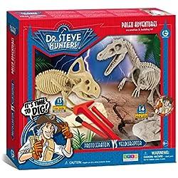 Dr. Steve Hunters cl1661K–Juegos Paleo Adventures Excavation Kit Velociraptor vs Protoceratops