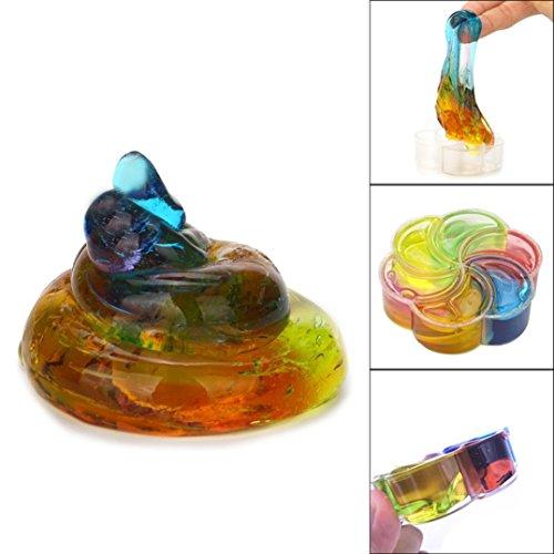 Verkauf Jelly (Regenbogen Crysta Jelly Weiche Schleim Spielzeug HARRYSATORE Duft Stress Relief Schlamm Spielzeug)