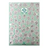 Qapter Poster Rubbelkarte-55 Dinge, die den Sex zum Abenteuer Machen-Bucketliste Paare, Singles und Abenteuerlustige, Mehrfarbig, DINA2 (59,5 x 42 cm), Pappe, Grün, 59.5 x 42 cm