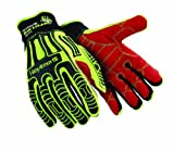 HexArmor Rig Lizard 2021 - High Visibility Mechanics Style Glove with Reinforced Palm and Impact Protection - Size Large by HexArmor