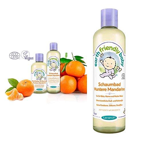 Lansinoh Earth Friendly Baby® Babyschaumbad, Badeschaum, Bio, SLS-frei, vegan, 300ml, Mandarine (Schaumbad Bio-kamille)