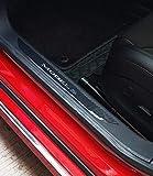 TeslaWorld Umbral de la puerta del coche Protector de umbral Etiqueta protectora decorativa del coche Anti Scratch para el Modelo S (2pcs)