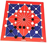 Spieltz 52207: Tonkin, Riesen-Brettspiel, XL Brettspiel, Spielplan + Spielsteine extra groß (Größe XL, Farbe rot-blau). Geeignet als Senioren-Spiel, Veranstaltungs-Spiel.