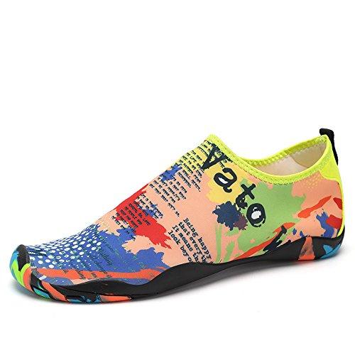 VILOCY Herren Damen Strand Pool Meer Schwimmen Toggle Slip On Trainers Schnell Trocknend Aqua Wasser Schuhe Erwachsene Farbe