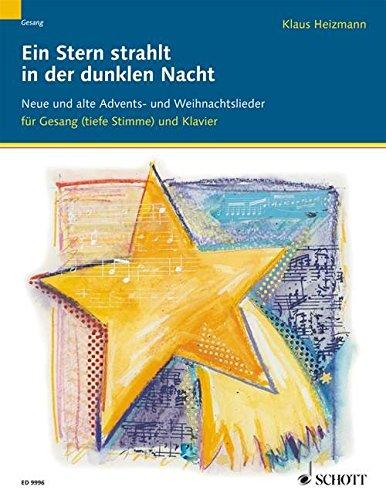 Ein Stern strahlt in der dunklen Nacht: Neue und alte Advents- und Weihnachtslieder. Gesang und Klavier (Orgel).