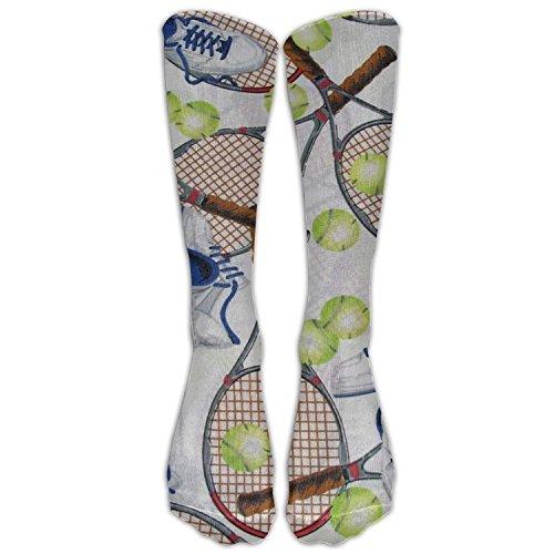 khgkhgfkgfk Lustige Tennis Womens Socks Crew Socks Tube Baumwolle, Fußball, Stiefel, Softballlauf für Männer 19,68 Zoll -