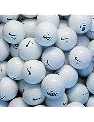 Second Chance 100-NIK-BOX - Lote de 100 bolas de golf recuperadas de lagos de varios modelos clase B Nike