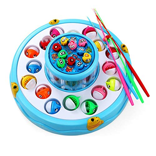 Outdoor Fun & Sports Fishing Toys Random Color Go Fishing Game Electric Rotating Magnetic Magnet Fish Toy Kid Educational Toys We Take Customers As Our Gods