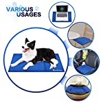 Lauva Dog Cool Mat, Dogs Self Cooling Non-Toxic Gel Mat Pads Mattress Pet Cat Cool Beds Extra Large for Dog Crates… 11