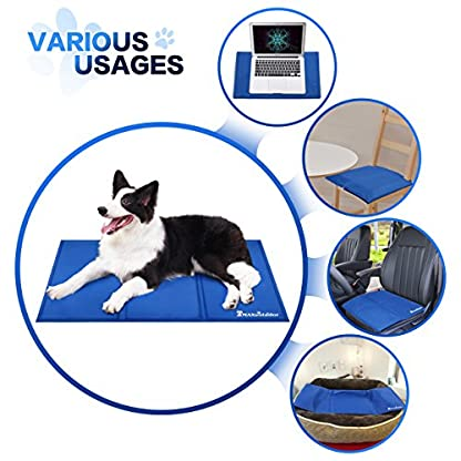 Lauva Dog Cool Mat, Dogs Self Cooling Non-Toxic Gel Mat Pads Mattress Pet Cat Cool Beds Extra Large for Dog Crates… 3
