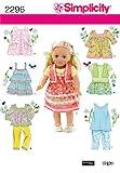 Simplicity 2296 - Cartamodello per vestiti da bambola, taglia unica