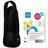 MAM Set für unterwegs // MAM Thermal Bag Isoliertasche black & MAM Hygienetücher, 24 Stück