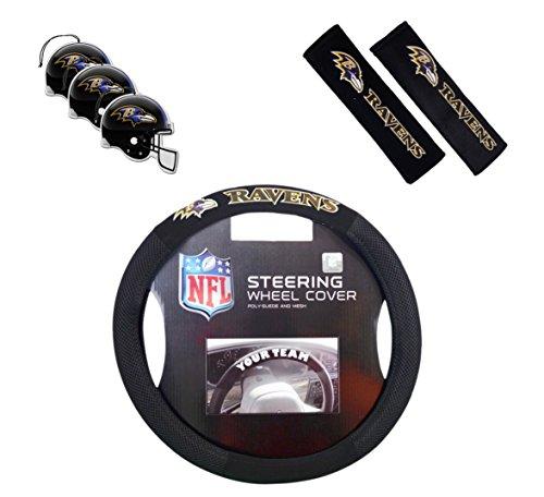 Offizielles NFL National Football League Fan Shop Authentic Auto Zubehör Bundle, Baltimore Ravens