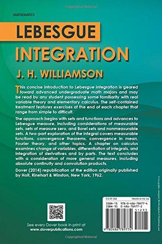 Lebesgue Integration (Dover Books on Mathematics)