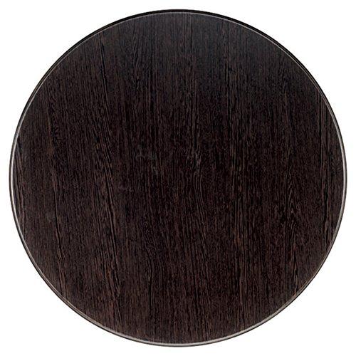Werzalit / hochwertige Tischplatte/Wenge/runde Form 80 cm/Bistrotisch/Bistrotische/Gartentisch/Gastronomie